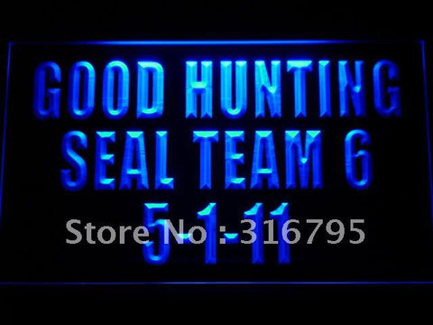 SEAL TEAM 6 Six VI US NAVY ST6 LED Neon Sign