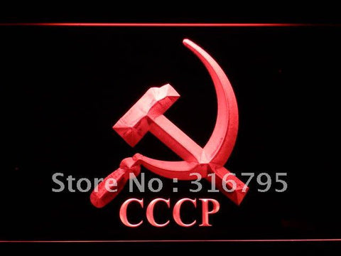 Hammer and Sickle Communist CCCP LED Neon Sign