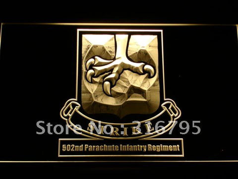 502nd Parachute Infantry Army LED Neon Sign