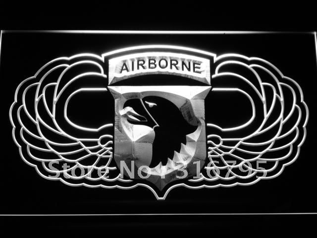 101st Airborne Jump Wings Army LED Neon Sign