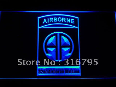 82nd Airborne Division Army LED Neon Sign
