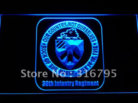 30th Infantry Regiment Army Neon Sign (LED)