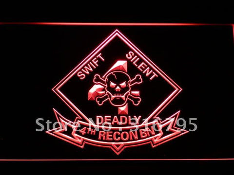 4th Recon Battalion Marine USMC LED Neon Sign