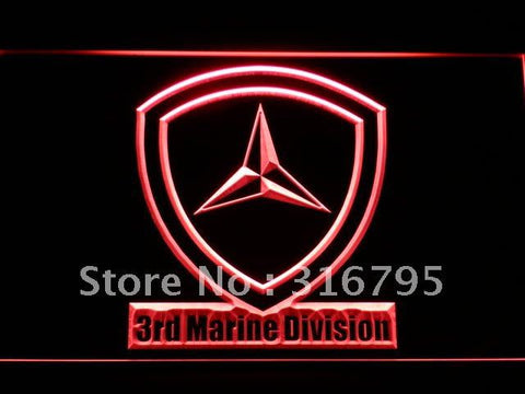 3rd Marine Division Military USMC LED Neon Sign