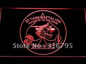 2nd Tank Battalion Iron Horse LED Neon Sign