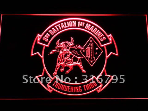 3rd Battalion 1st Marine Regiment USMC LED Neon Sign