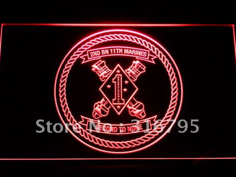2nd Battalion 11th Marine Regiment LED Neon Sign