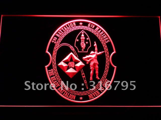 2nd Battalion 6th Marine Regiment USMC LED Neon Sign