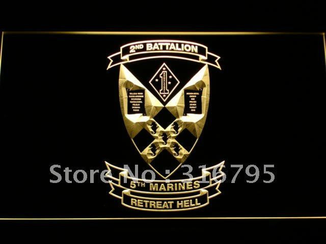 2nd Battalion 5th Marine Regiment USMC LED Neon Sign