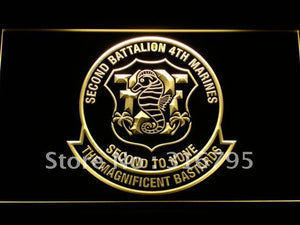 2nd Battalion 4th Marine Regiment USMC LED Neon Sign