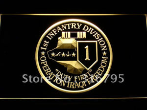 1st Infantry Division Operation Iraqi LED Neon Sign