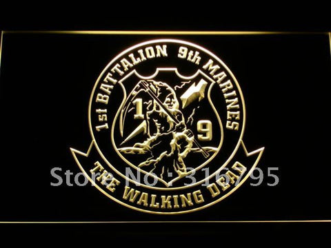 1st Battalion 9th Marine Regiment USMC LED Neon Sign