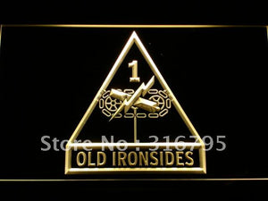 US Army 1st First Armored Division LED Neon Sign