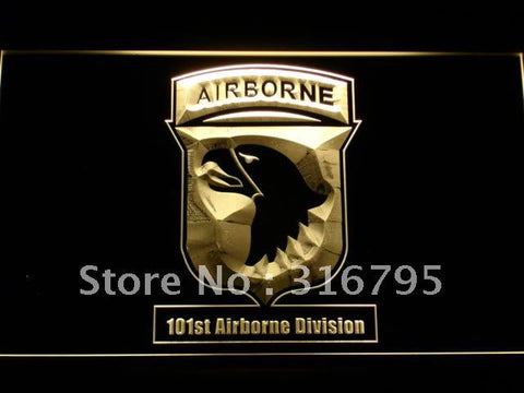 101st Airborne Division Army LED Neon Sign
