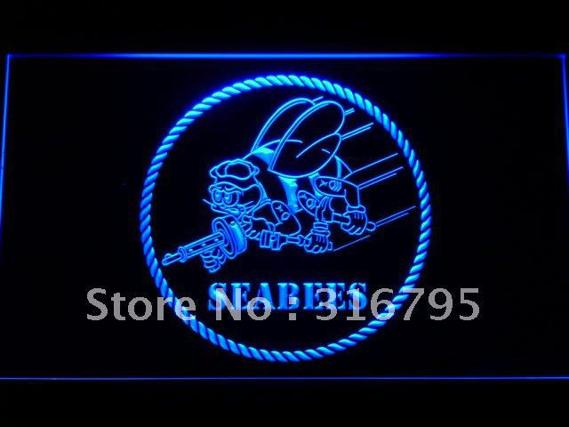 US Navy Seabees LED Neon Sign