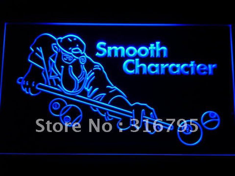 Camel Joe Smooth Character Pool LED Neon Signs