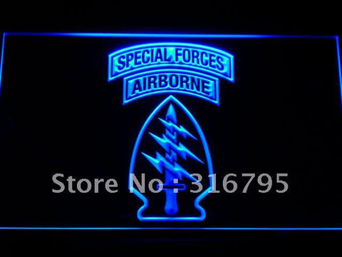 US Army Special Forces Air Borne LED Neon Sign