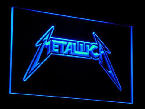 Metallica Guitar Band Metal LED Neon Sign