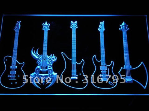 Guitar Weapons Band Music LED Neon Sign