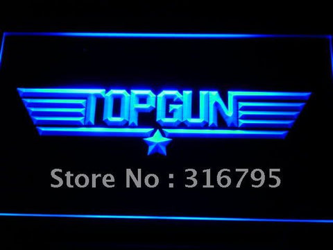 Top Gun Movie Logo Bar Decor LED Neon Sign