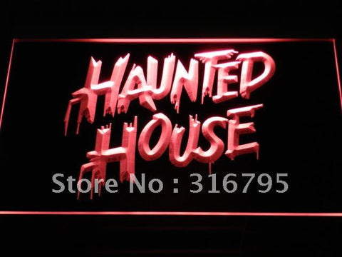 Haunted House LED Neon Sign