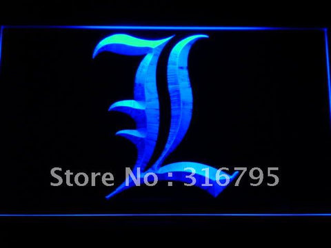 Death Note Notebook Cosplay L LED Neon Sign