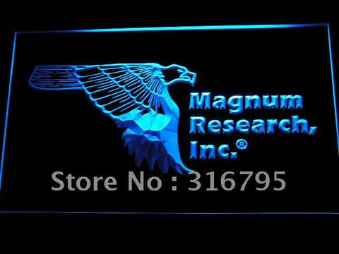 Magnum Research Inc Gun Firearms Eagle Logo LED Neon Sign