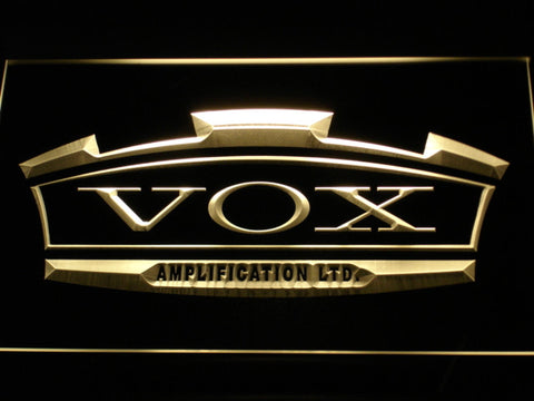 VOX Amplifier Guitar Bass Band LED Neon Sign
