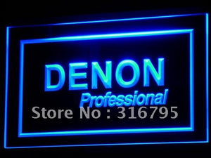 Denon Home Theater Audio NR LED Neon Sign