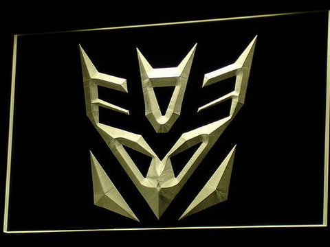 Transformers Decepticon Robot LED Neon Sign