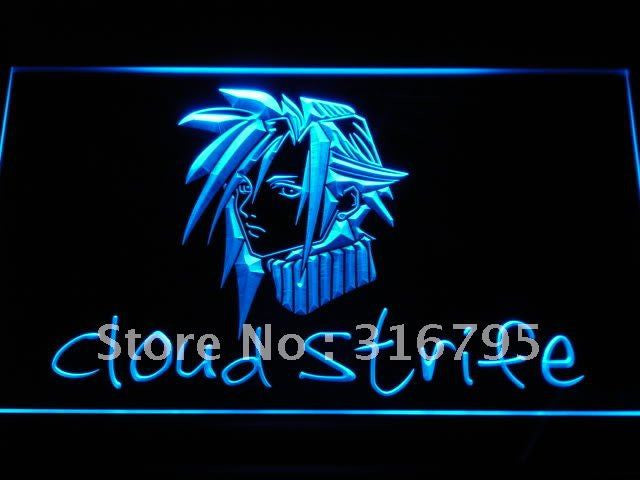 Cloud Strife Final Fantasy 7 VII LED Neon Sign