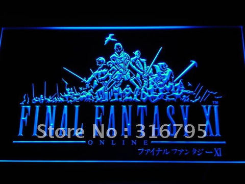 Final Fantasy FF11 PS2 Gifts LED Neon Sign