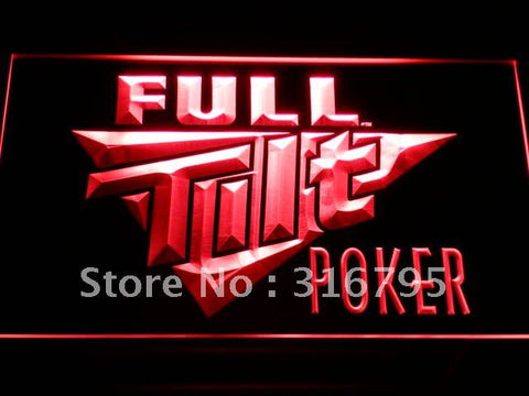 Full Tilt Poker LED Neon Sign