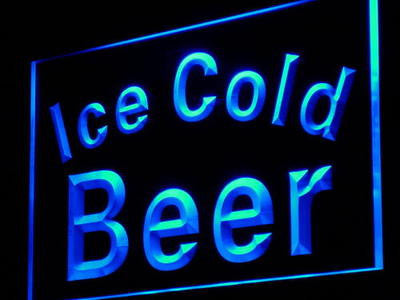 Ice Cold Beer Bar Pub Club Decor Neon Light Sign