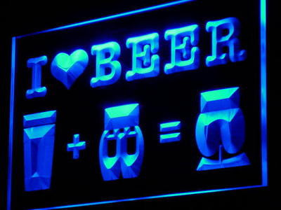 I Love Beer Bar Pub Club Decor Neon Light Sign