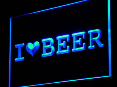 I Love Beer Bar Pub Club Gift Decor Neon Light Sign