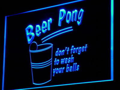 Beer Pong Game Bar Pub Club Decor Neon Light Sign