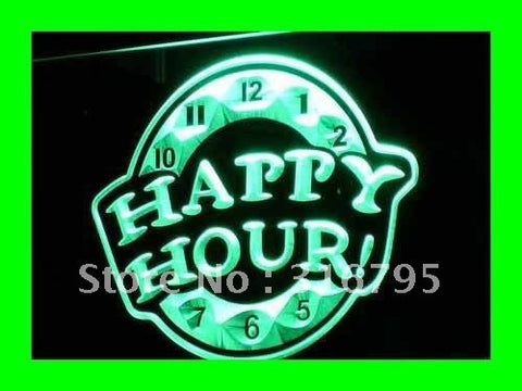 HAPPY HOUR Beer Bar Pub Club NEW LED Neon Light Sign
