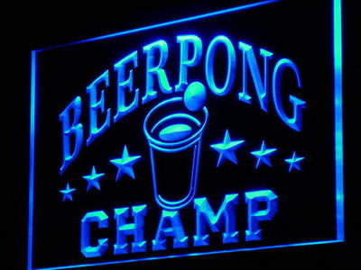 Beer Pong Champ Beer Bar Pub NEW Decor Neon Light Sign