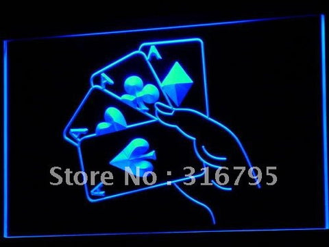 Poker Ace Lucky Beer Bar LED Neon Light Sign