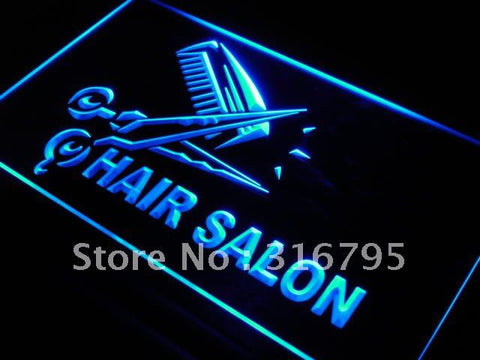 Hair Salon Cut Scissor Display LED Neon Light Sign