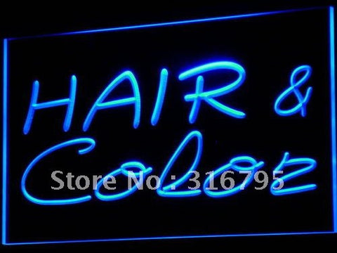 Hair & Color Salon Cutting Shop LED Neon Light Sign