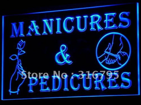 Manicures Pedicures Beauty Salon LED Neon Light Sign
