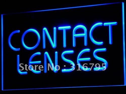 Contact Lenses Optical Shop Glasses Light Sign