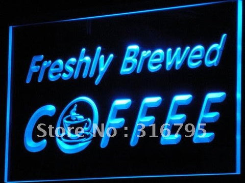 OPEN Freshly Brewed Coffee Cafe Shop Light Sign