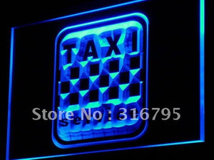 Taxi Service Cab Display Lure LED Neon Light Sign