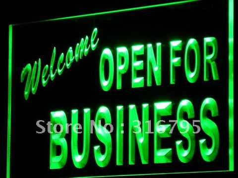 Welcome OPEN For Business Shop LED Neon Light Sign