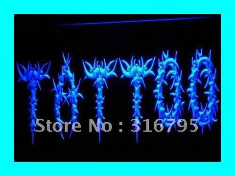 OPEN Tattoo Body Art Logo Shop LED Neon Light Sign