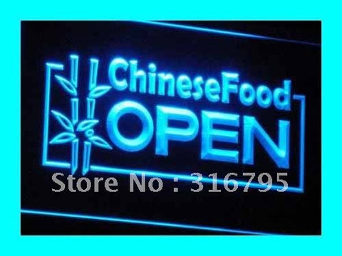 OPEN Chinese Food Displays Cafe LED Neon Light Sign