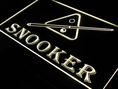 OPEN SNOOKER Pool Room Display LED Neon Light sign